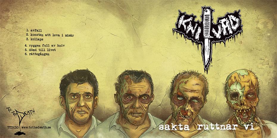 Knivad - Sakta ruttnar vi - cover art