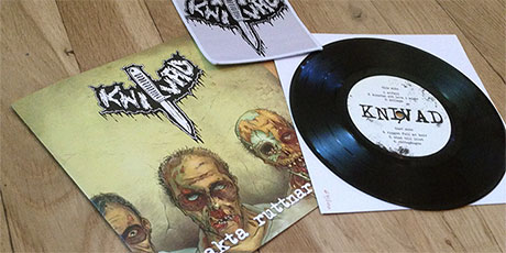 Knivad - Sakta ruttnar vi 7&quot misery black limited edition including patch